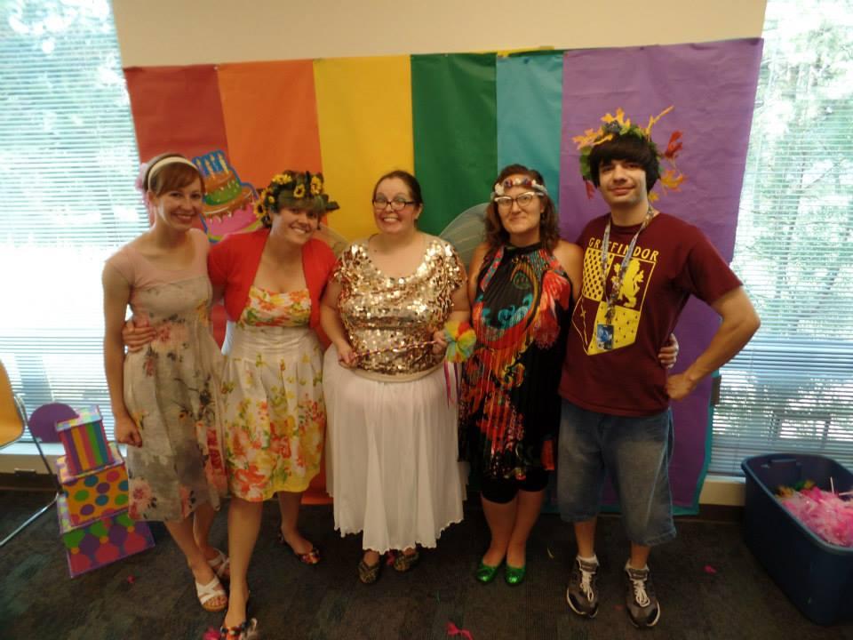 rainbow staff